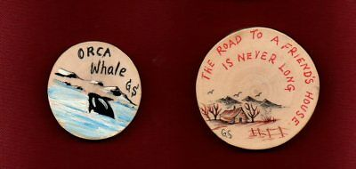 Outdoor Theme Fridge Magnets Orca & Homestead Hand Drawn All Unique Great Gift
