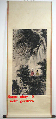 Excellent old Chinese Scroll  Painting by Fu Baoshi: Landscape 傅抱石 山水