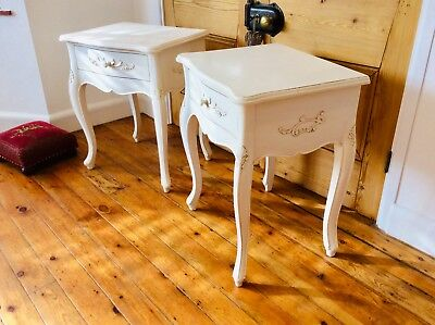 Pair of Vintage French Louis Style Bedside Tables