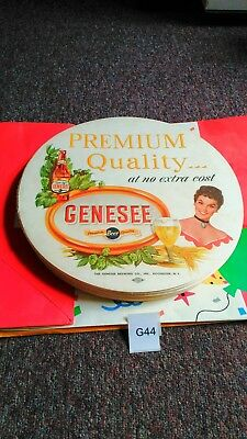 Lot Of 80: Vintage Genesee Beer Tray Liner Lithograph Bar Place Mat Genny Girl