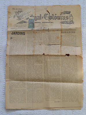 India -  Portugal - 1937 Goa Newspaper In Portuguese With India Postage Stamps
