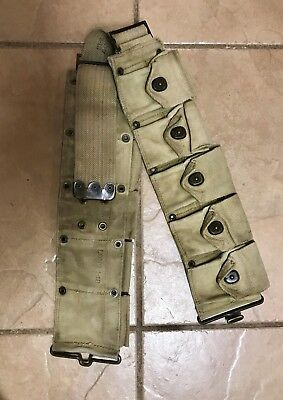 US WWI WWII Original M1917 Dismounted Cartridge Belt GREAT CONDITION