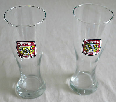 Pair of Widmer Brothers Pilsner Beer Glasses ~ 20 oz