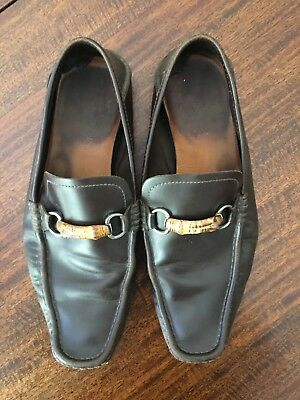 32b20a344f6 Mens Gucci Bamboo Horsebit Driving Moccasin Loafers Size 11  see pictures