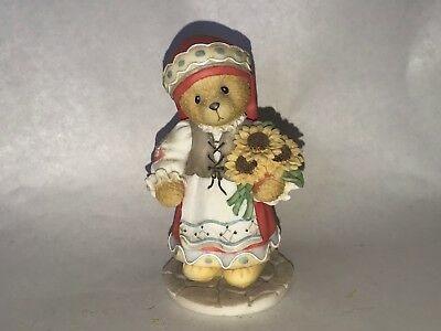 """1996 Cherished Teddies Nadia. """"From Russia with Love"""" Figurine # 202320"""