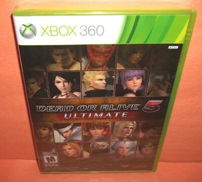 Dead or Alive 5: Ultimate (Microsoft Xbox 360, 2013) Brand New & Factory Sealed