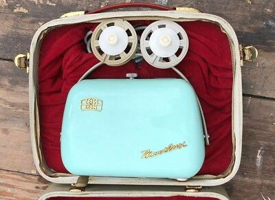 Vintage Zeiss Irgn Movilux Film Projector Complete With Hard Case Working *