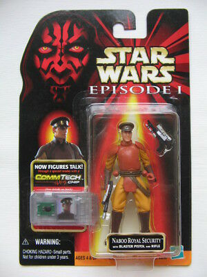 Star Wars Ep.1 - Naboo Royal Security with Blaster Pistol and Rifle