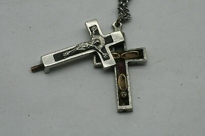 Antique Relic Cross Crucifix That Opens With Relics Inside