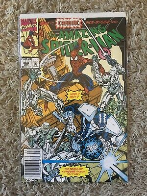 Amazing Spider-Man #360 FN- Newsstand 1992 1st Appearance Carnage Cameo Marvel