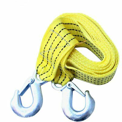 3 TONNE 3M Tow Towing Pull Strap Rope Belt Heavy Duty Car Van Road Recovery Nw
