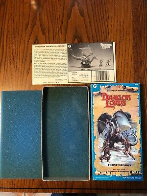 VINTAGE 1985 Dragon Lords Grenadier Models Frost Dragon D&D BOX ONLY!
