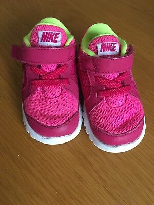 Baby Girls Toddler Pink Nike Trainers Size UK 4.5 Infant