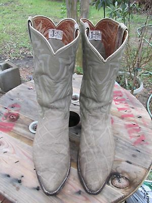 162768b66c5 VINTAGE 60'S ERA EXOTIC LEATHER COWBOY WESTERN BOOTS MADE FT.WORTH TEXAS 11  D