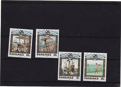 Bahamas - 1990 500Th Anniv Discovery Of America By Columbus 3Rd Issue Um Set 4