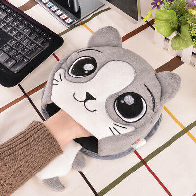 Winter Warm Mouse Pad Thick Cartoon Plush Hand Warmer Heated Mouse Mat USB Port