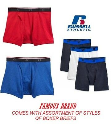 Russell Men's Boxer Briefs in Famous Brand Packaging 3-Pack