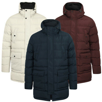 Tokyo Laundry Men's Edmonton Long Line Padded Quilted Puffer Jacket