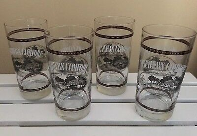"""Southern Comfort Whiskey Bar Glasses """"Add a Southern Accent"""" SET OF 4 FREE SHIP"""