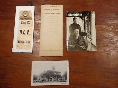 Rare Texas -Austin Confederate Home Collection Ucv