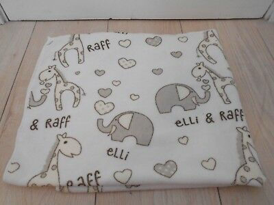 Super Soft Elli & Raff Baby Hooded BathTime Unisex Towel - NEW TAGS REMOVED