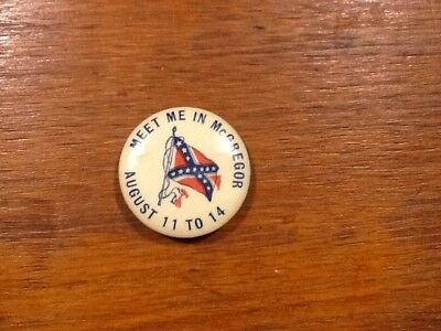 Rare Mcgregor Texas Confederate Reunion Ucv Cellulod Ucv