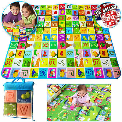 Kids Crawling Play Mat 2 Side Educational Game Soft Foam Picnic Carpet 150X180Cm