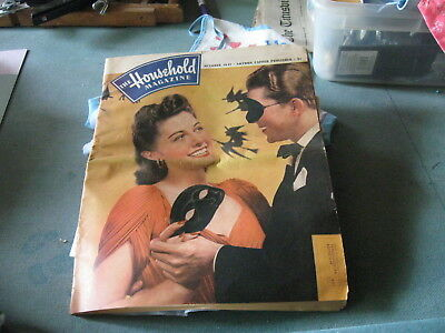 The Household Magazine   Oct 1941  EXCELLENT  Condition for 77 yr old