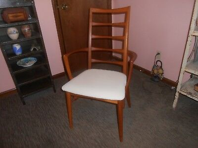 Vintage Mid Century Danish Modern Koefoed Arm Chair Lis teak Dining Desk