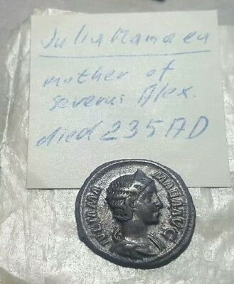 222 AD JULIA MAMAMEA Ancient Rome Silver coin***