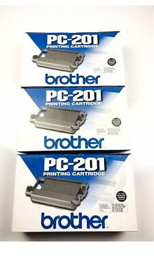 BRAND NEW Lot Of 3 BROTHER PC-201 PRINTING CARTRIDGE FAX