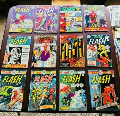 55 issue mid to lower grade Flash Comics lot from the SILVER AND BRONZE AGE!