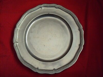 Wilton Armetale Pewter Country Ware French Large Charger Platter Medieval SCA