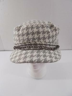 HT633 August Hat Company Women s Chain Houndstooth Newsboy Cap NWT One Size f7929ee2fd87