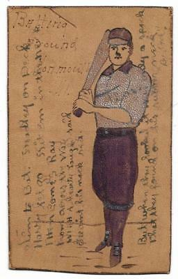 Baseball: Early Leather BB Themed Postcard; Includes Interesting Poem