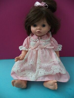 """14"""" 1995 Brunette Baby So Beautiful Doll By Playmates Toys"""