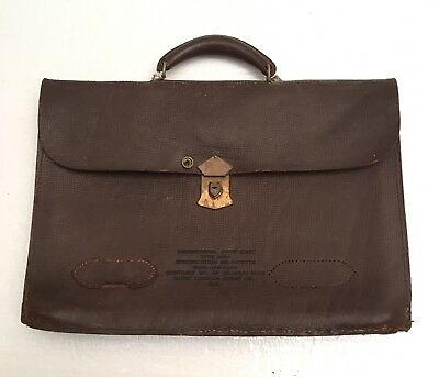 WW2 US Army Air Force Leather Brief Attaché Case MIL spec B-7977A