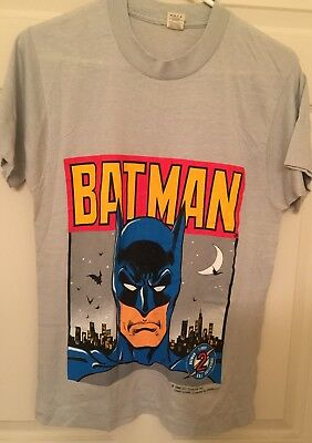 Batman Shirt Vintage tshirt 1988 DC Comics Hero SSI Collectibles BOYS MEDIUM
