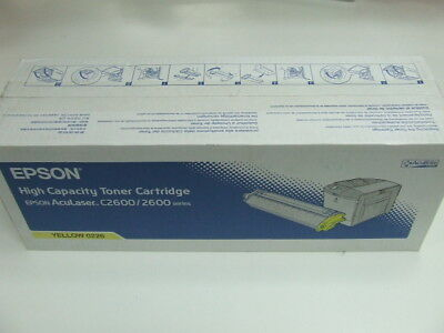 Genuine Epson AL C2600/2600 High Capacity YELLOW Toner *NEW*
