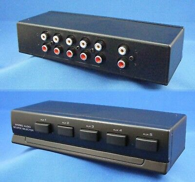 Stereo 5 Way Audio Source Selector Switch Box - line level selector - 74-1040