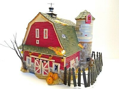Department 56 Snow Village Halloween Haunted Barn. With haunted Sound Effects.