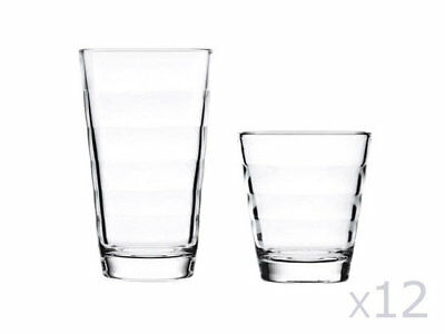 Verre long drink et gobelet en verre (Lot de 12) ONDA
