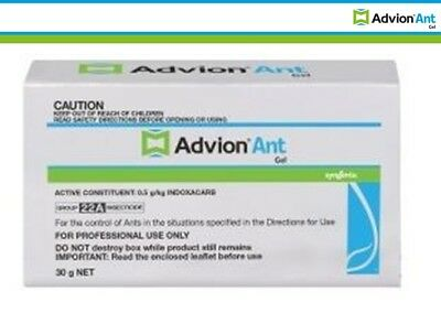 Genuine Syngenta Advion Ant Killer Gel Bait Professional Pest Control 1 Tube