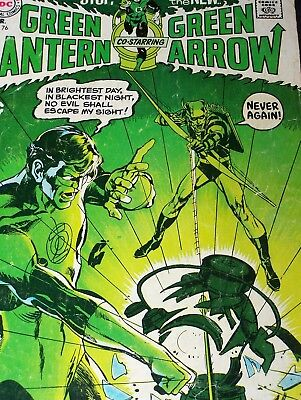 Green Lantern Issue 76 Neal Adams Denny O'Neill Iconic Cover Green Arrow