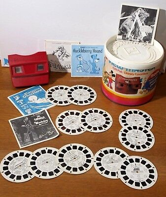 Vintage Viewmaster LOT 2352 Gift Pak Canister /Viewer /Reels Dr Shrinker 50s-70s
