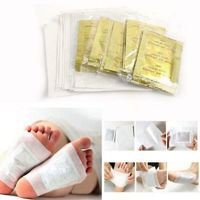 10 x Detox Foot Pads Patch Detoxify Toxins Adhesive Keeping Fit Health Care New