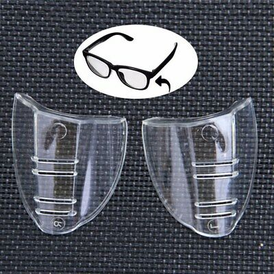 2pcs Universal Flexible Soft Side Shields Safety Glasses Goggles Eye Protection