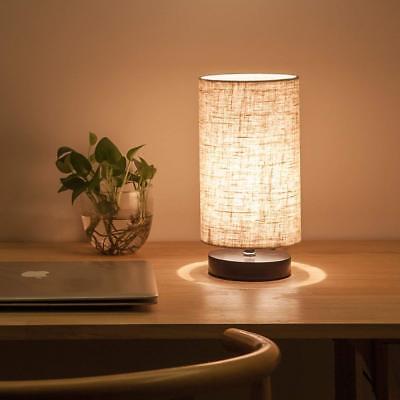 Lifeholder Fabric Wooden Table Lamp for Bedroom Living Room Office Study