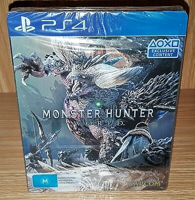 Monster Hunter World Steelbook Edition PlayStation 4 (PS4) - Brand New & Sealed