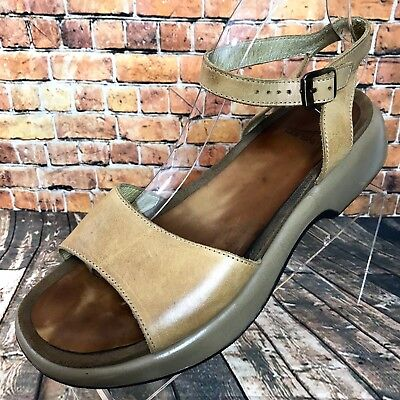 4bf9a75091f Dansko Tan Leather Ankle Strap Sandals Womens Size EU 41 US 11 Made in  Portugal
